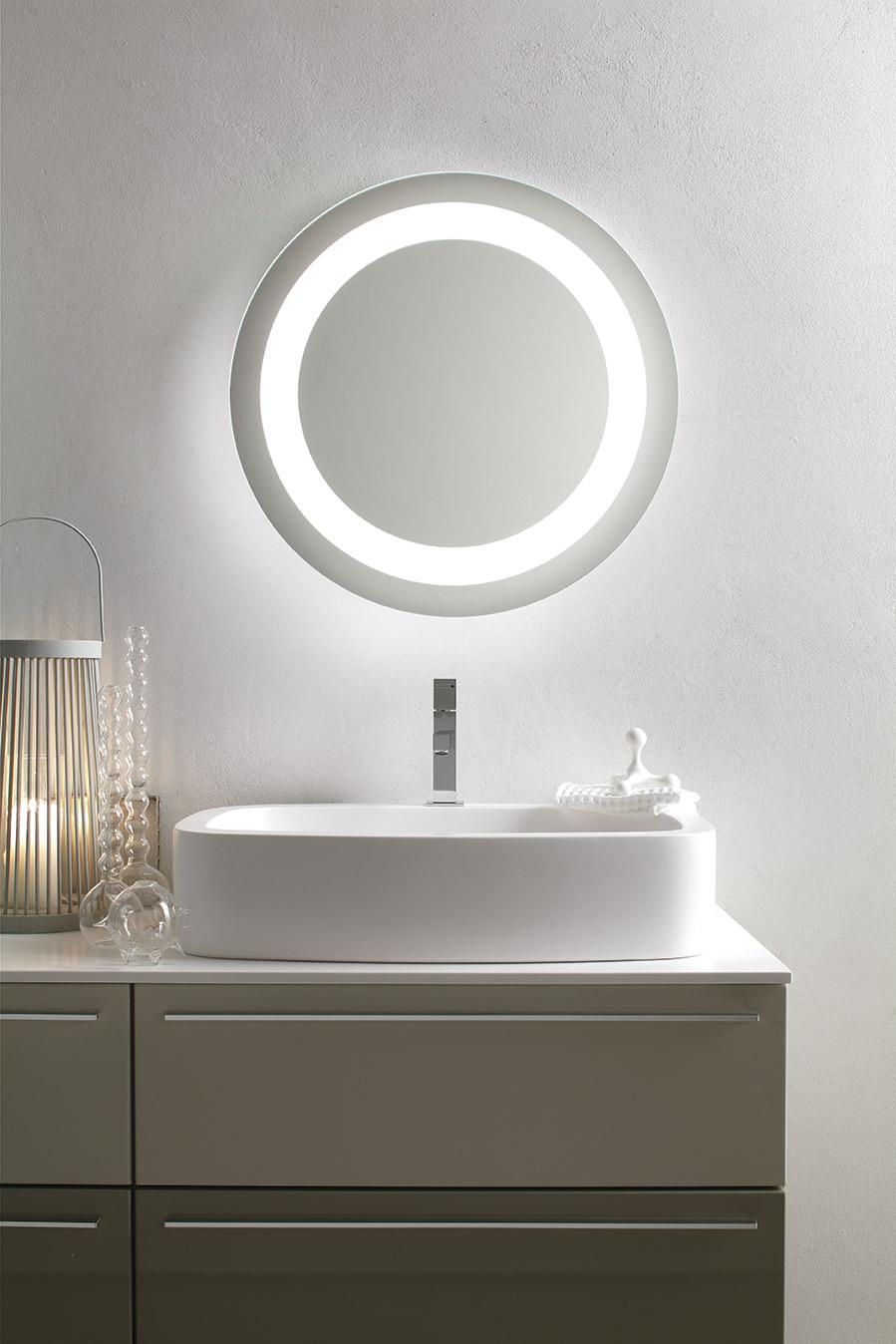 Specchiera retroilluminata LED modello ORION