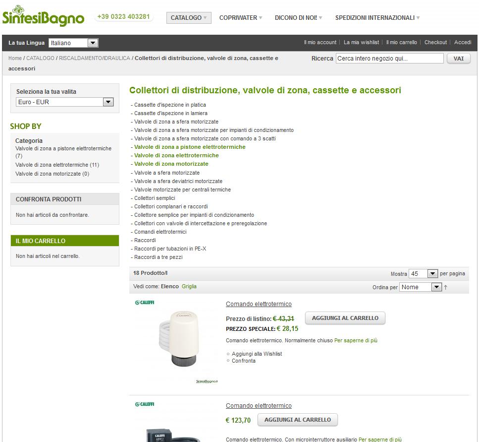 Valvole prezzi stunning oventrop valvola angolare per for Vendita online design