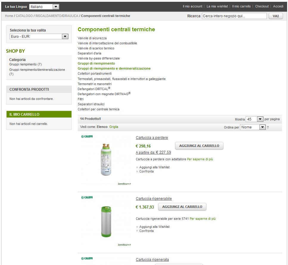 Caleffi prezzi e vendita online articoli idrotermosanitari | Componenti per centrali termiche