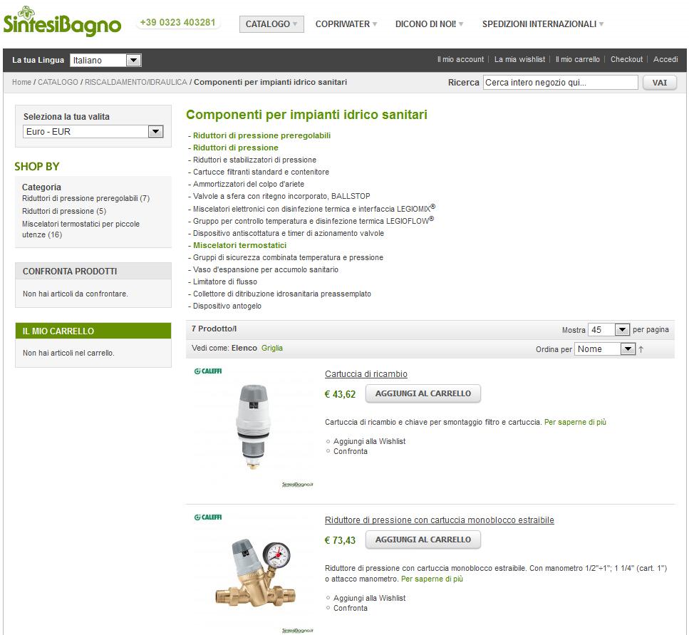 Caleffi prezzi e vendita online articoli idrotermosanitari | Componenti per impianti idrico sanitari