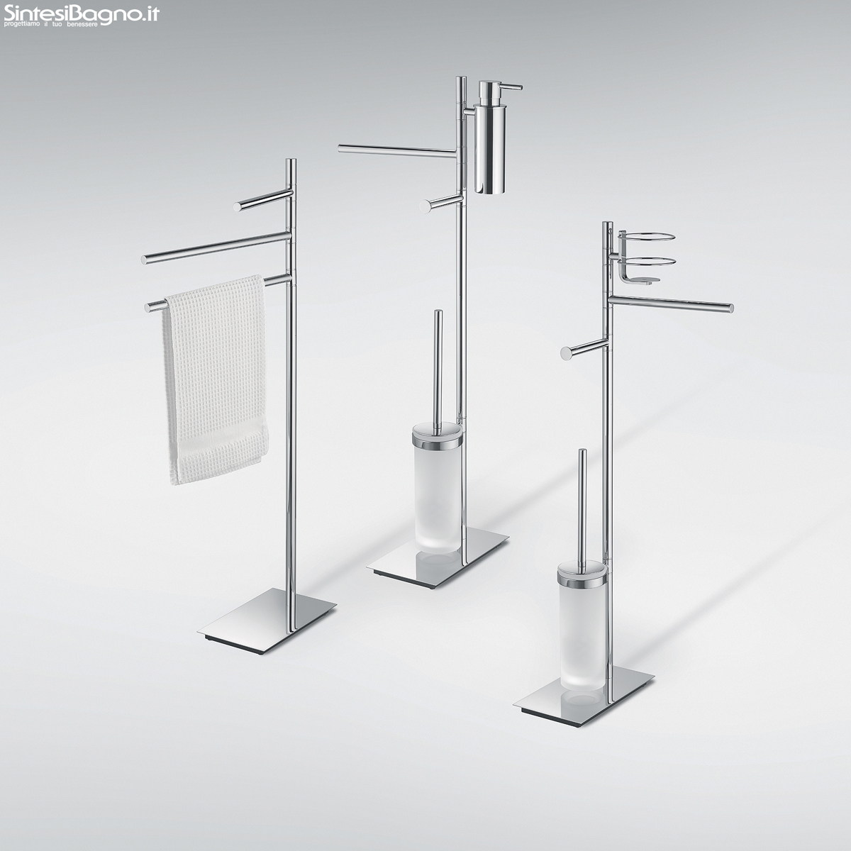 Accessori bagno piantane colombo design serie square for Accessori doccia design