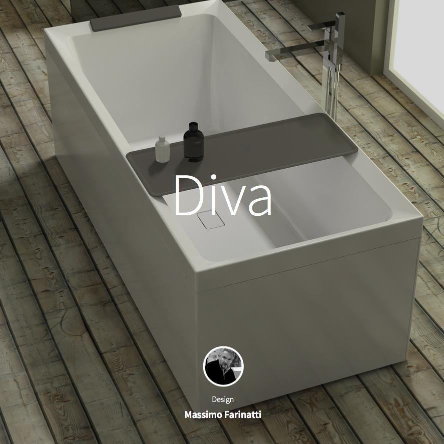 La nuova vasca da bagno diva della novellini immersione - Gambe vasca da bagno ...