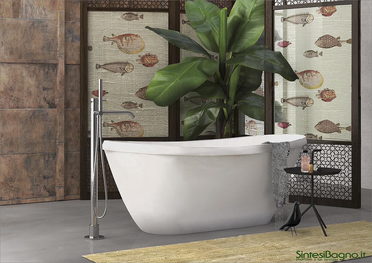 Vasca da bagno in marmoresina PONSI modello GAMMA