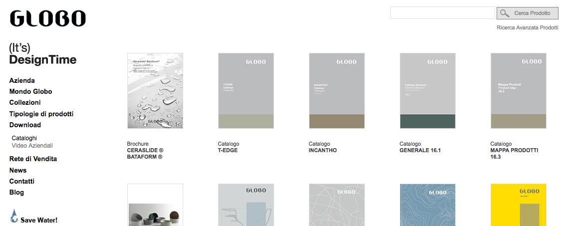 Ceramica Globo: News & il Nuovo Catalogo Generale