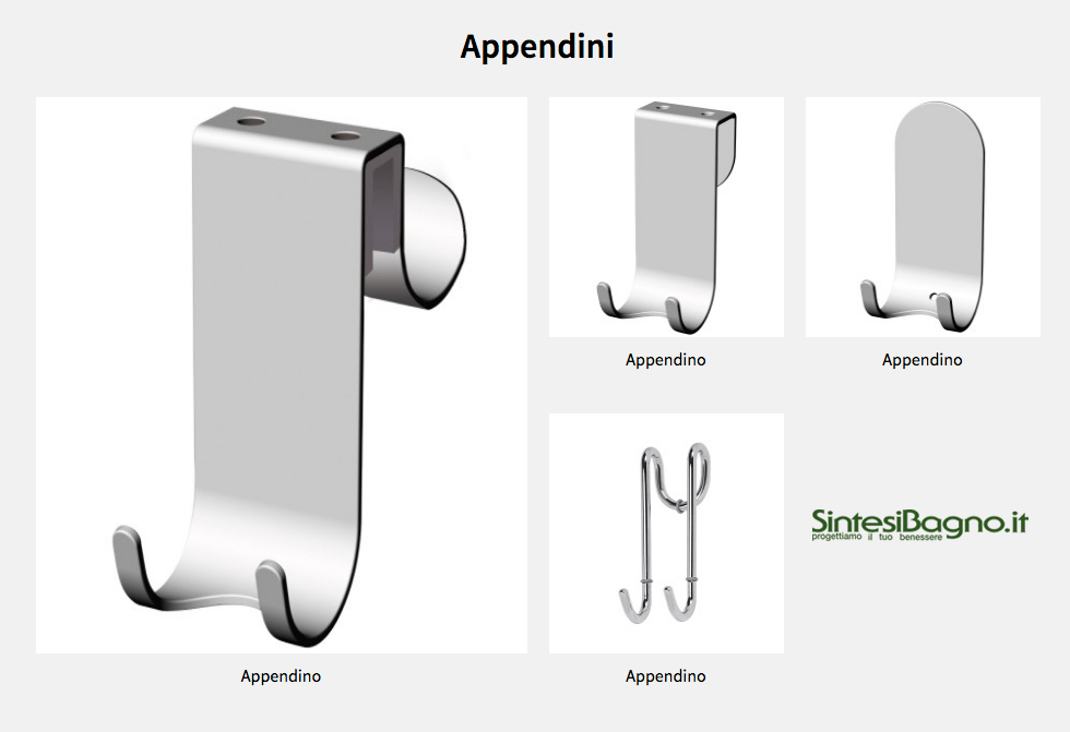 Accessori complementi bagno Novellini: Appendini