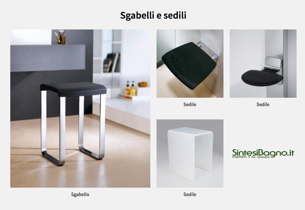 Accessori complementi bagno Novellini: Sgabelli e Sedili