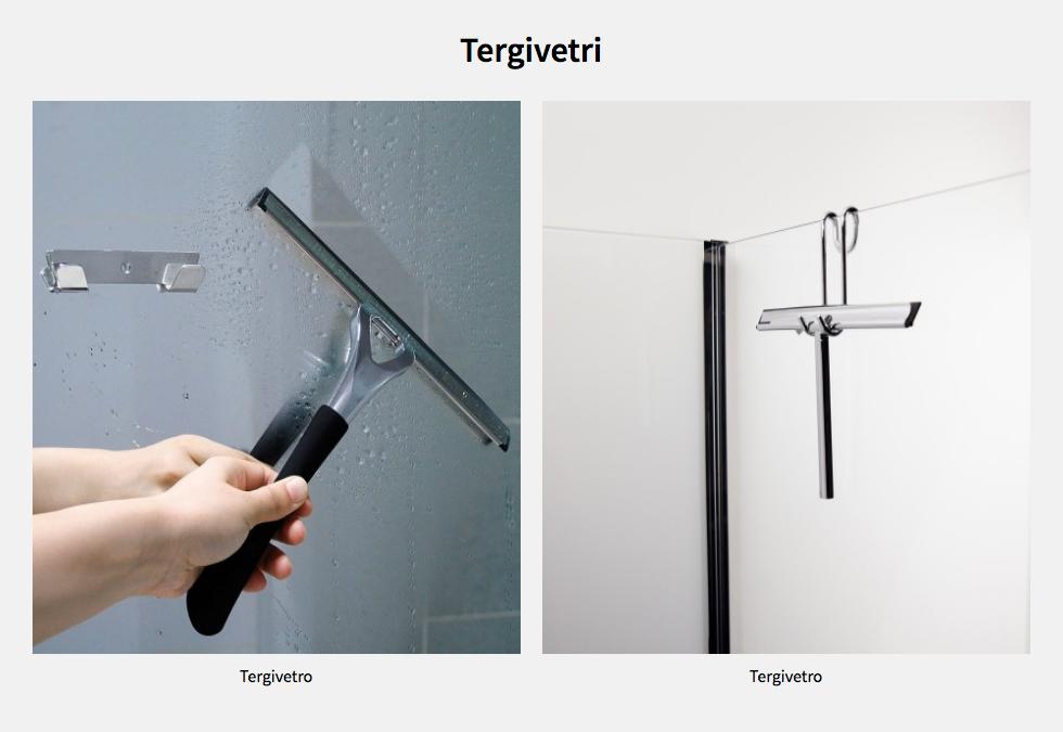 Accessori complementi bagno Novellini: Tergivetri