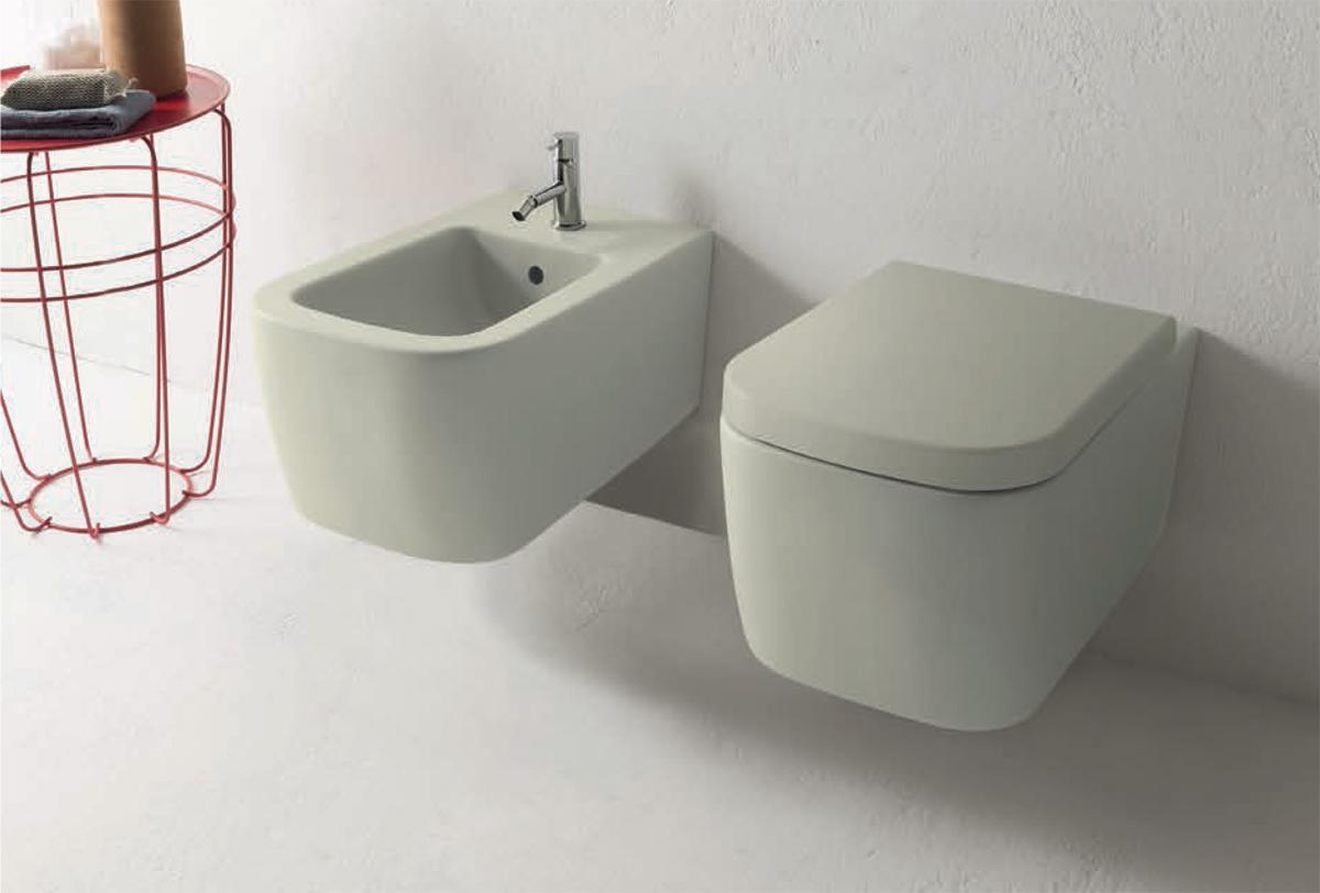 Ceramica Globo. Vaso e bidet sospesi. Wall-hung WC and bidet. 54.36. STONE