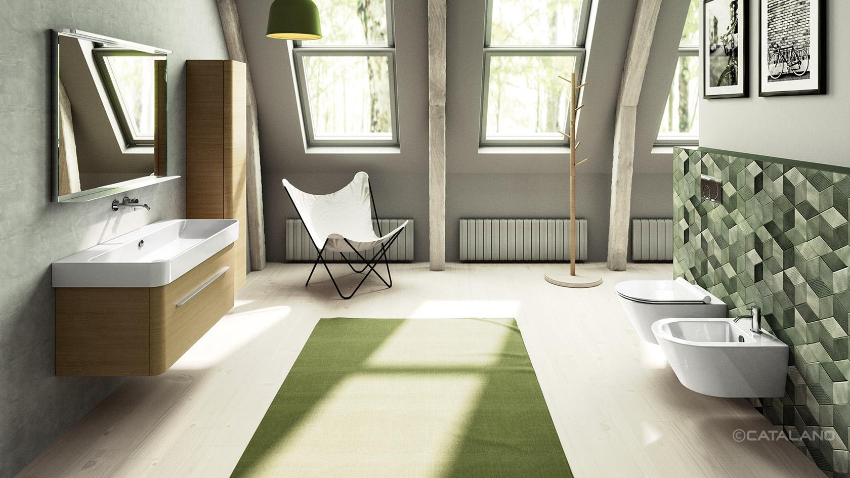"""Collezioni bagno """"natura inspired"""": Catalano Green"""