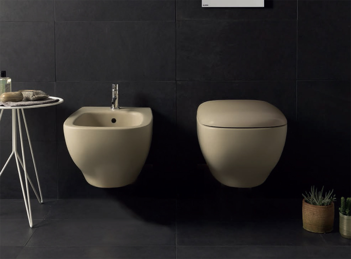 Ceramica Globo. Vaso e bidet sospesi. Wall-hung WC and bidet. 55.37. GENESIS