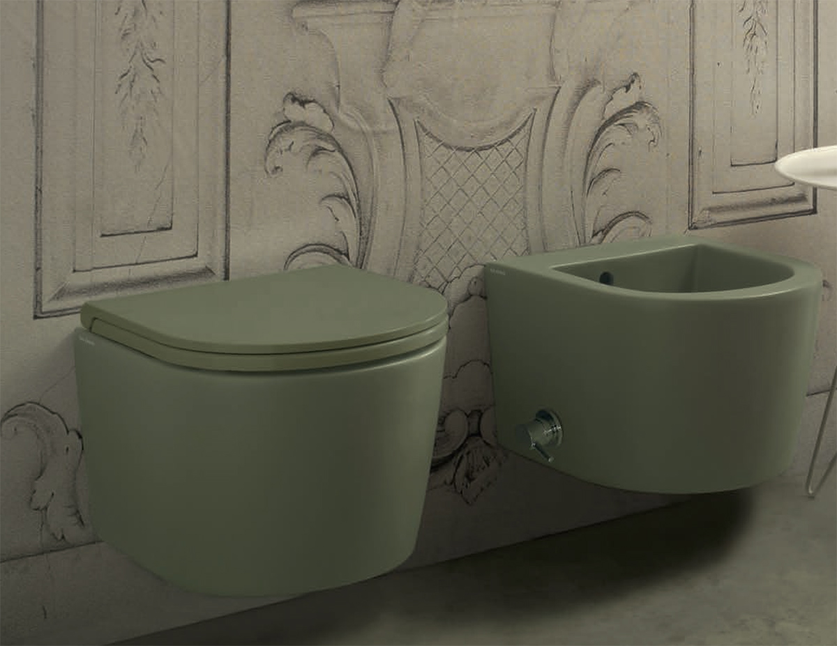 Ceramica Globo. Vaso e bidet sospesi. Wall-hung WC and bidet. 43.36. FORTY3